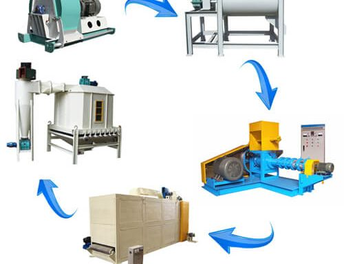 Fish Feed Production Line 500-600kg/h