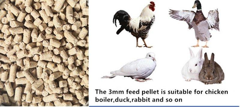 chicken feed pellet size